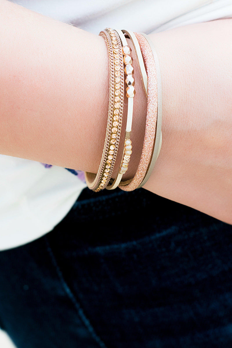 Rose Gold Bead Bracelet - 512 Boutique
