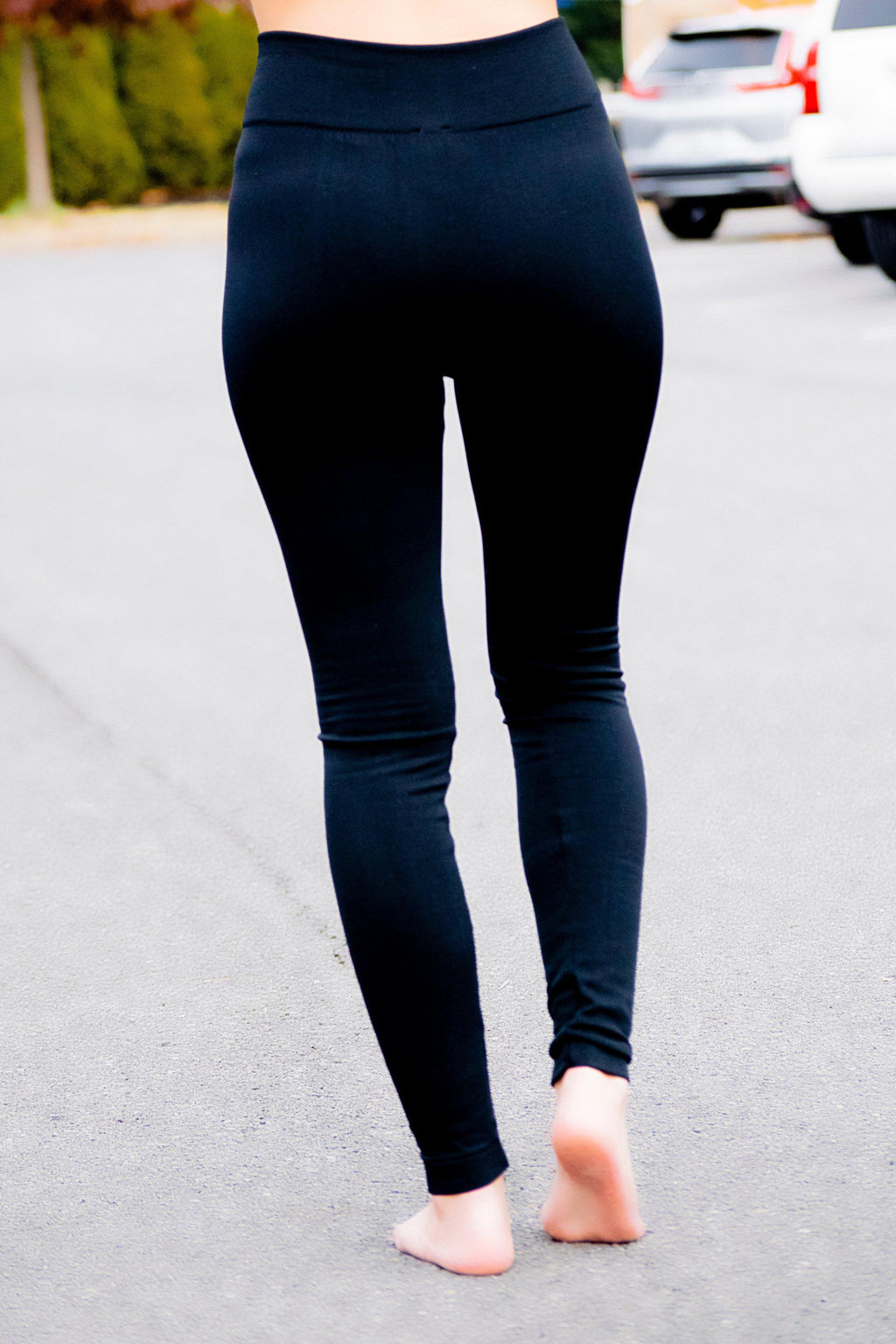 Black Fleece Lined Leggings - 512 Boutique