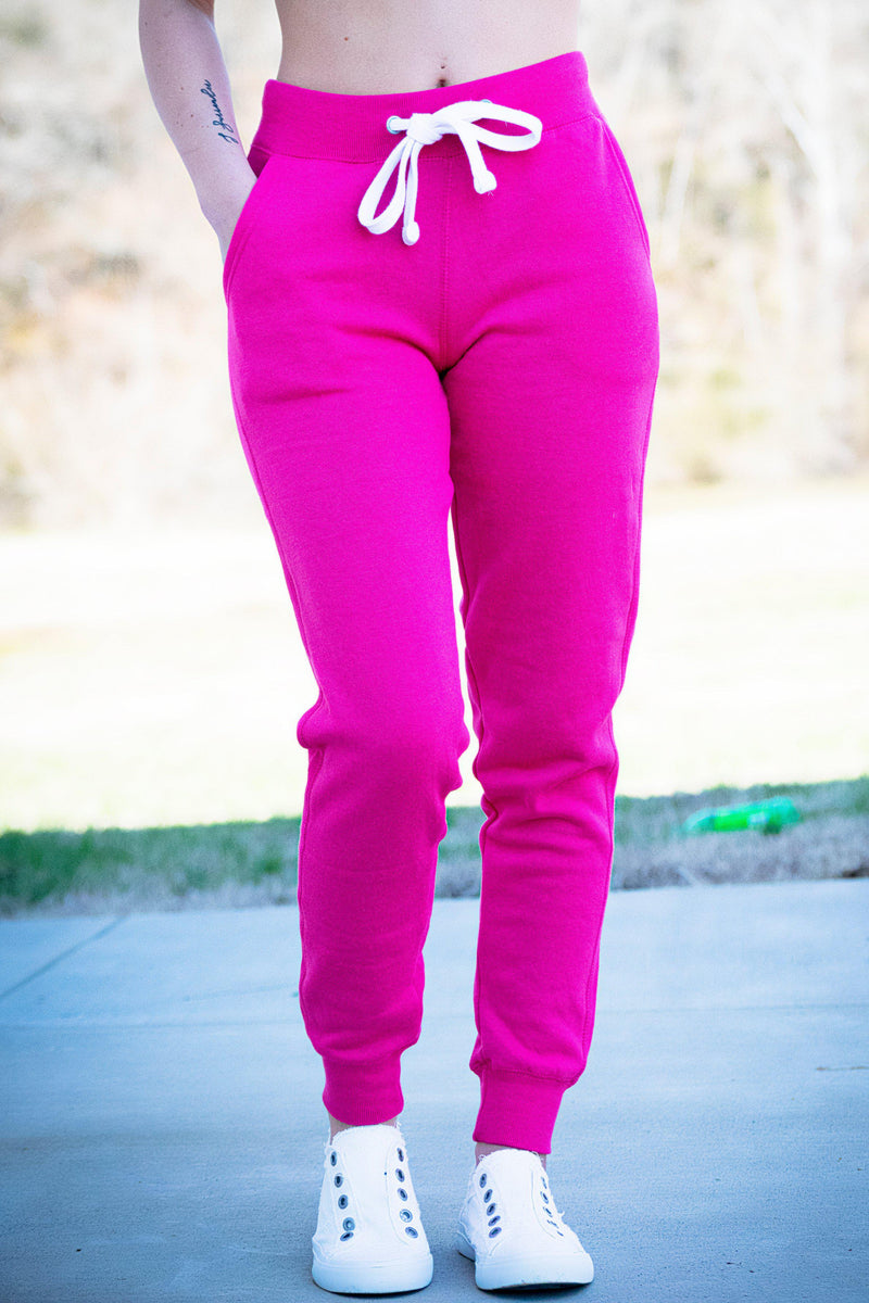 You Got This Joggers- Fuchsia - 512 Boutique