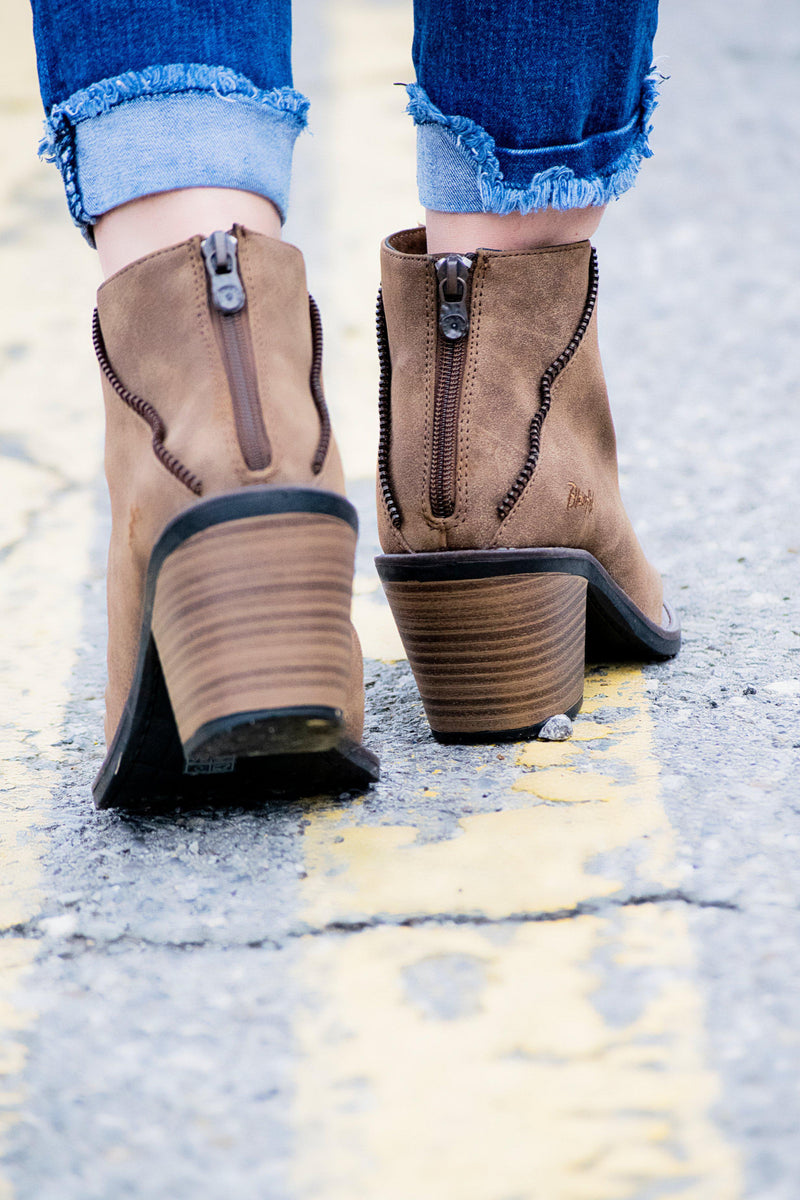 Blowfish Baldwin Booties -Taupe