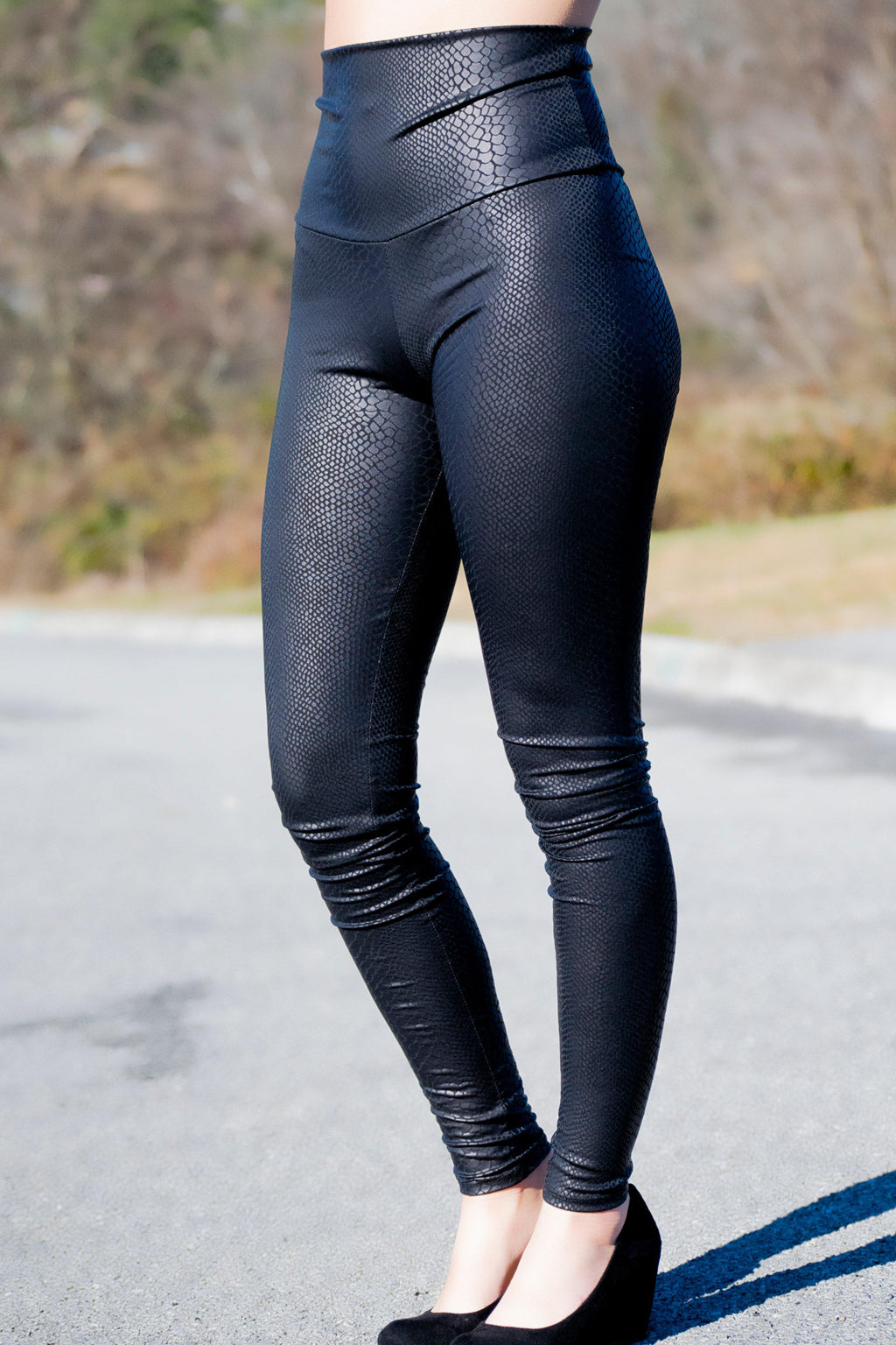 Snakeskin Leggings - 512 Boutique