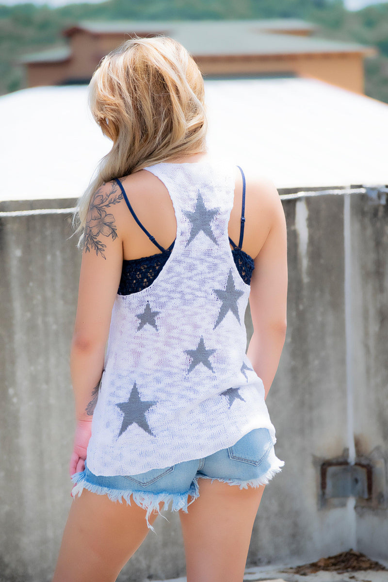 Ivory Star Tank - 512 Boutique