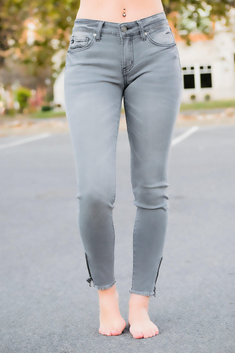 Amelia KanCan Gray Jeans - 512 Boutique