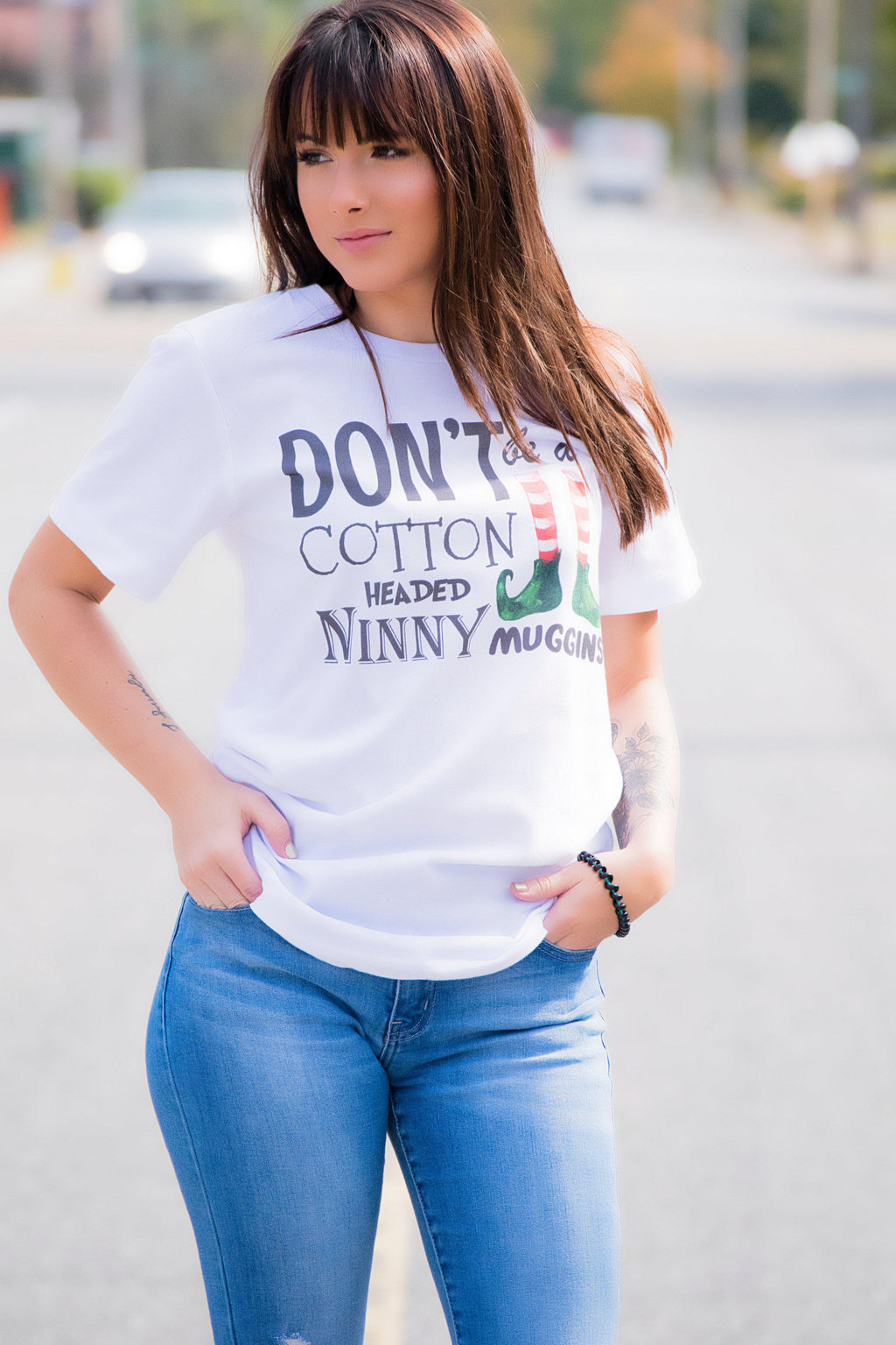Cotton Head Christmas Tee - 512 Boutique