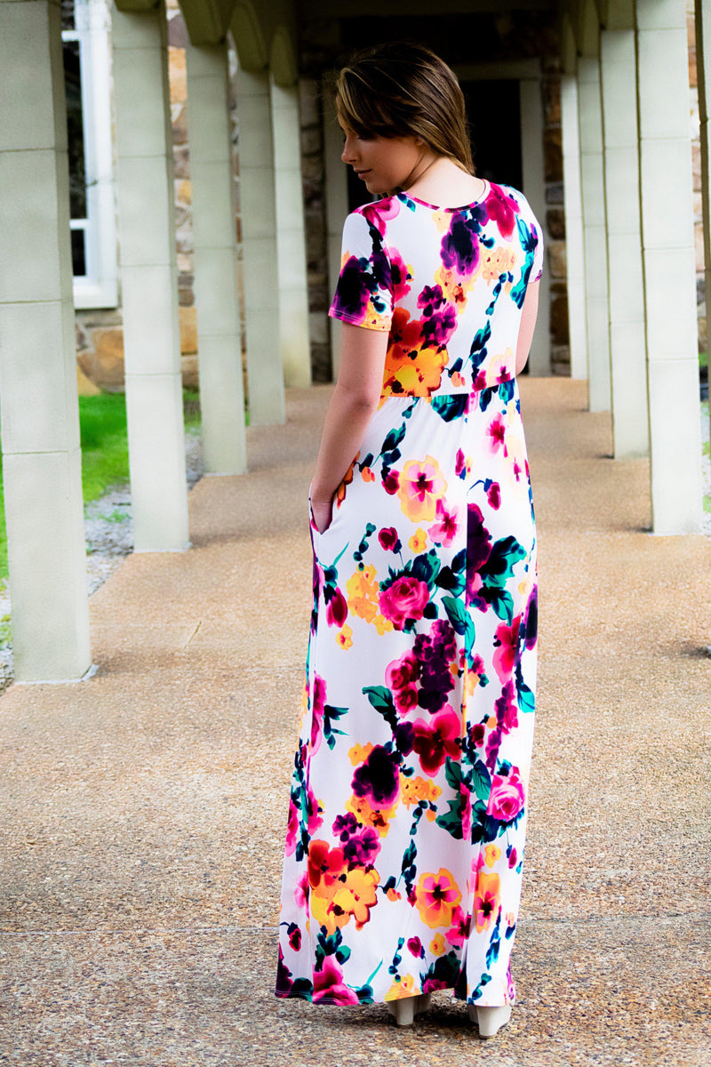 The Skylar Floral Dress - 512 Boutique