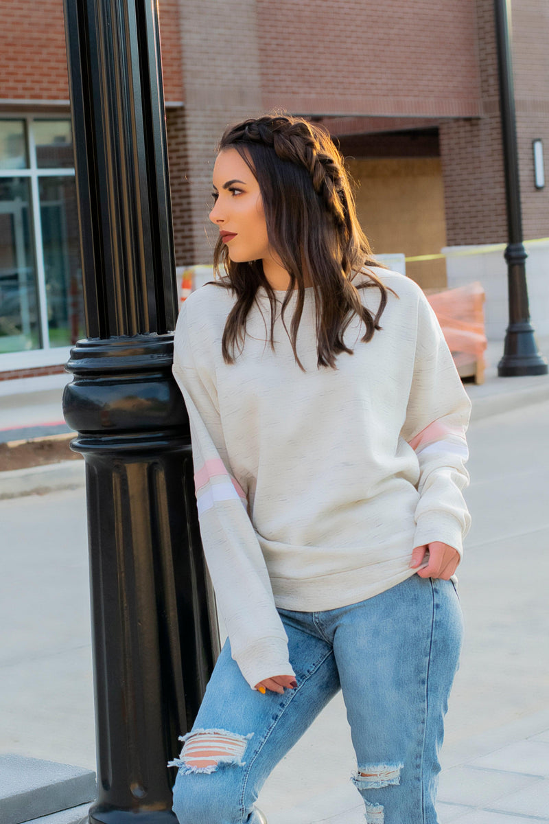 Pink/Cream Reflex Pullover - 512 Boutique