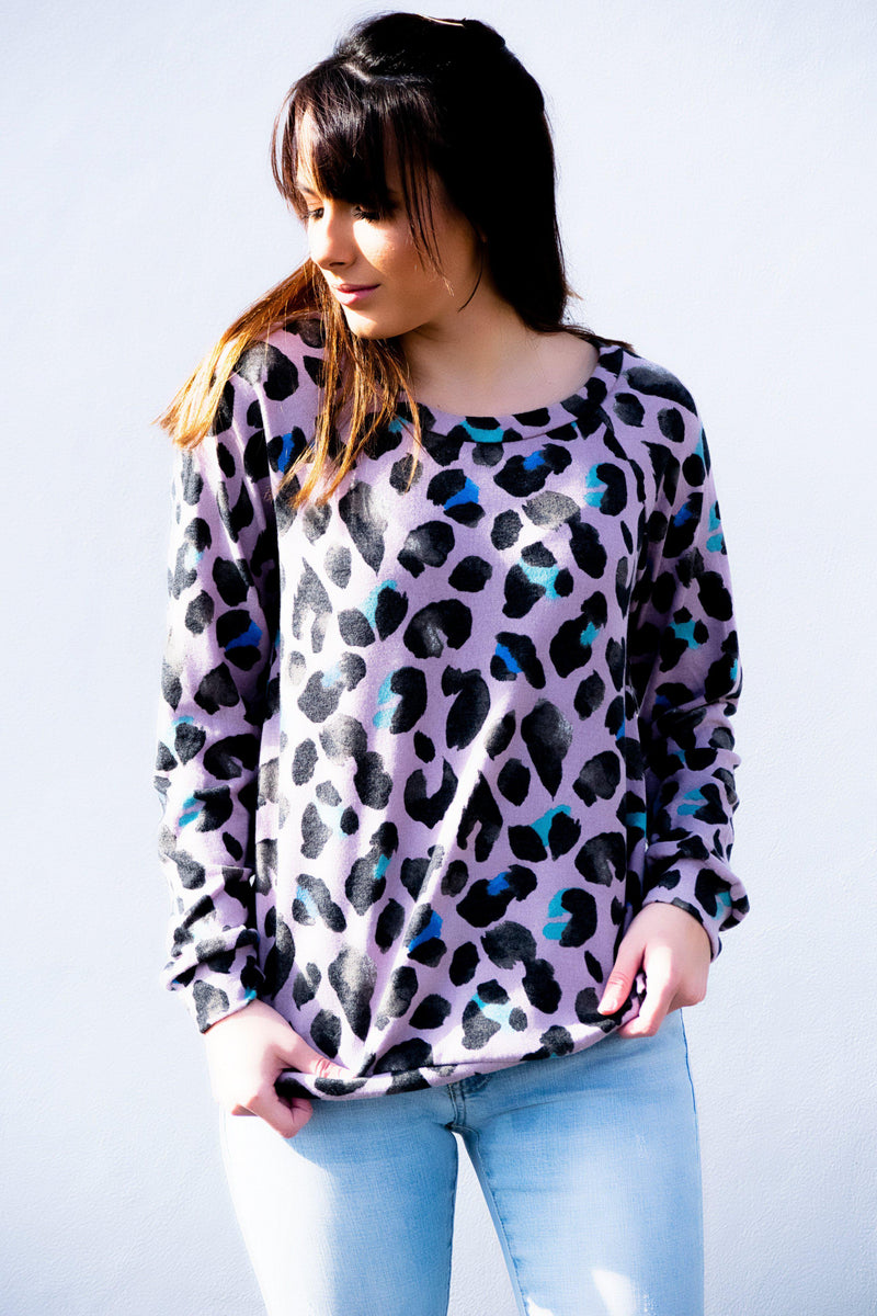 Spotted You Lavender Top - 512 Boutique