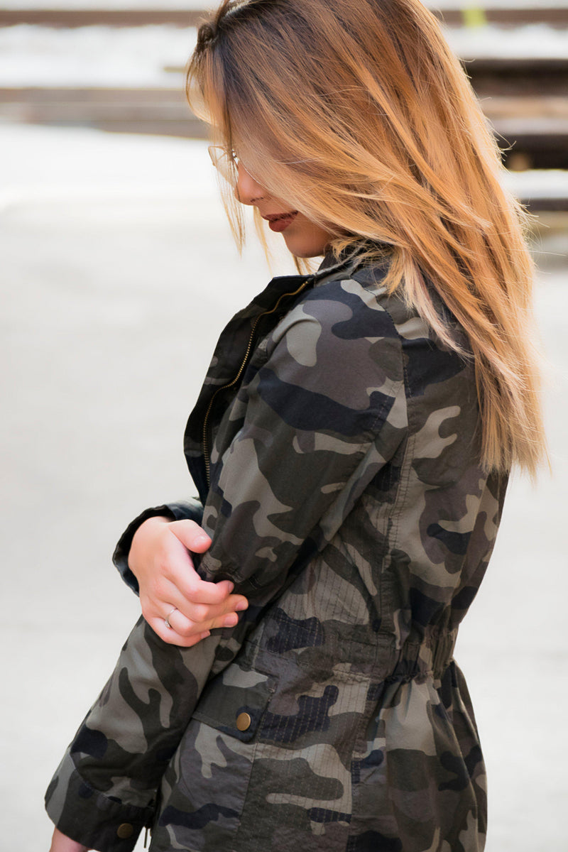 Camo Utility Jacket - 512 Boutique