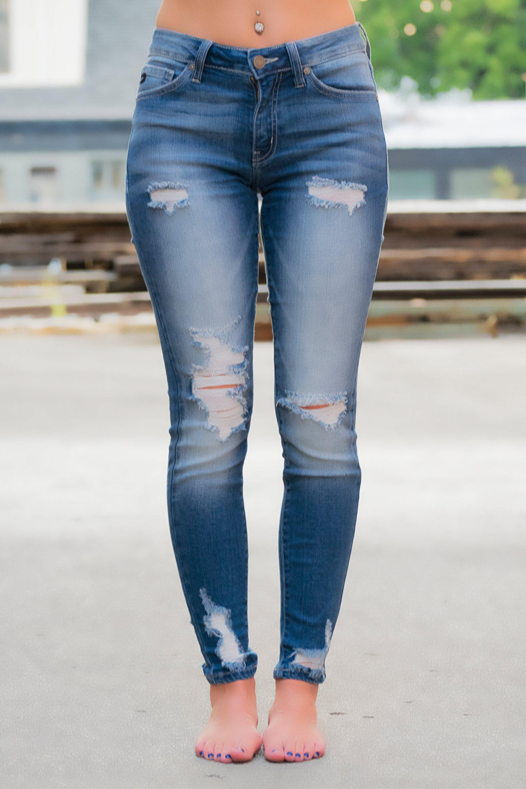 Sammie Distressed KanCan Jeans - 512 Boutique