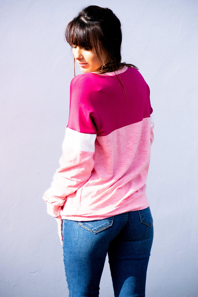 Get In Line Top - Pink - 512 Boutique