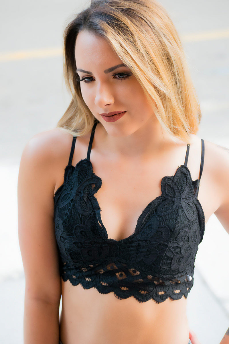 The Blakely Bralette- Black - 512 Boutique