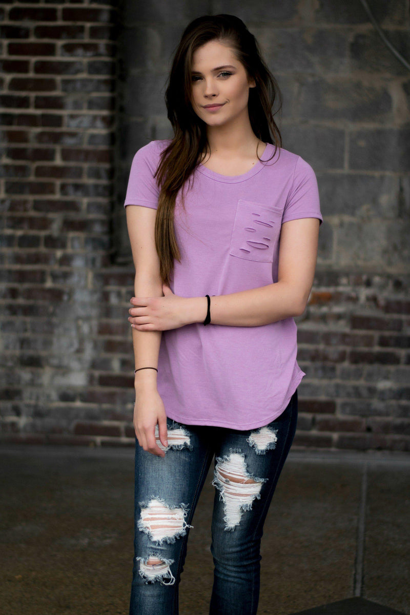Cross The Line Top- Lilac