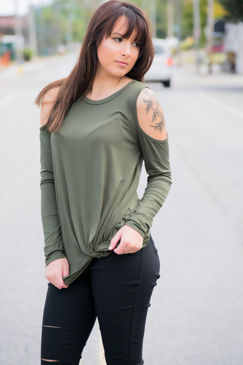 Love Can't Wait Top- Olive - 512 Boutique
