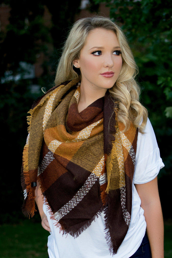 Brown Blanket Scarf