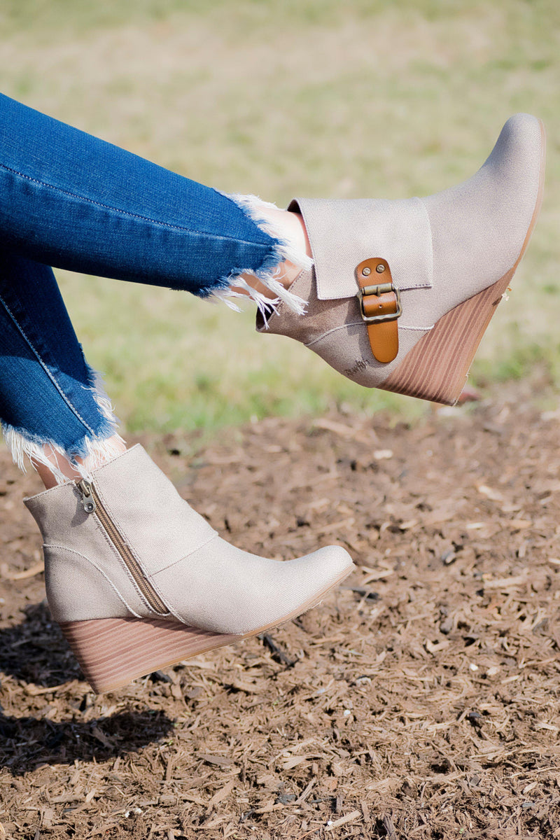 Blowfish Baldwin Booties -Taupe - 512 Boutique