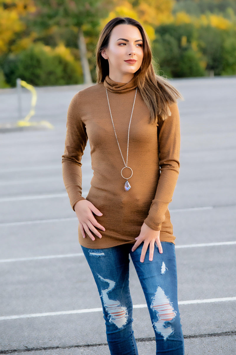 The Alice Turtle Neck Top- Dark Mustard - 512 Boutique