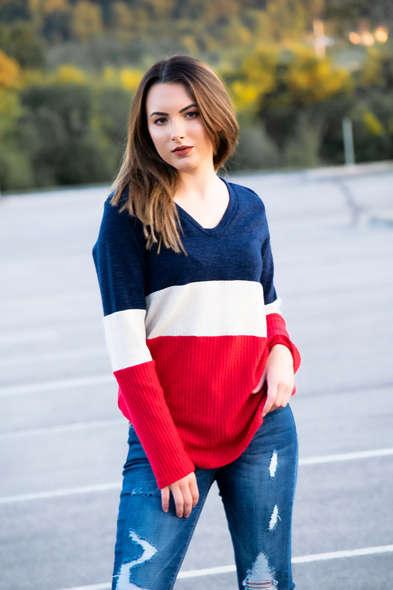 Striped raglan with Bubble sleeve -Black