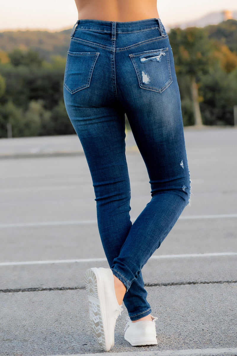 Kylie Dark Wash Jeans - 512 Boutique