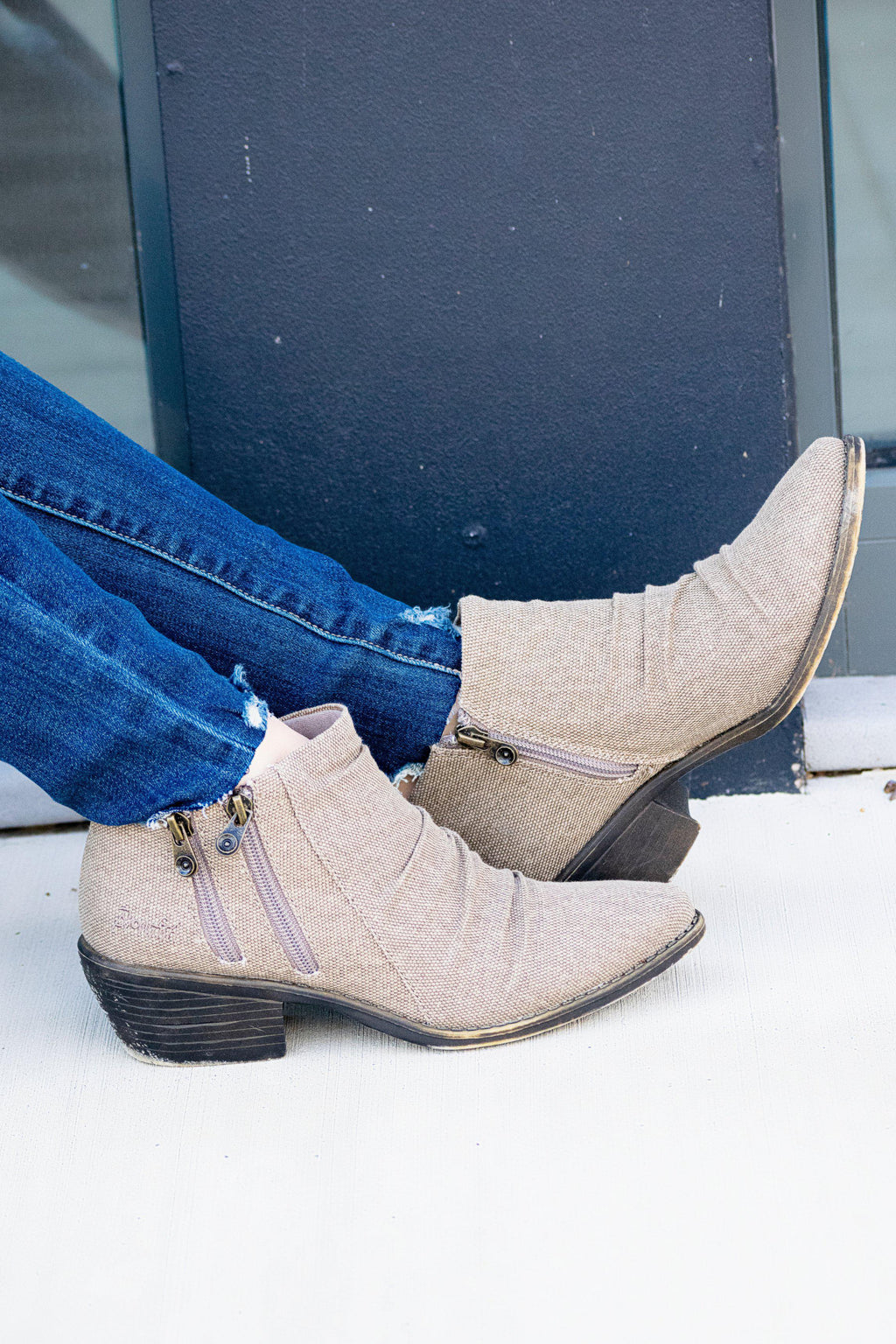Blowfish Wander Bootie- Lt. Taupe - 512 Boutique
