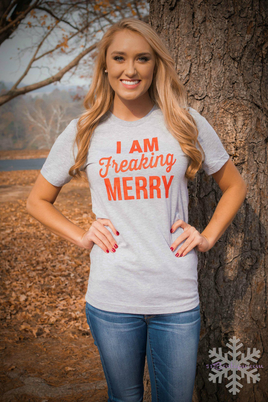 Freaking Merry - Gray - 512 Boutique