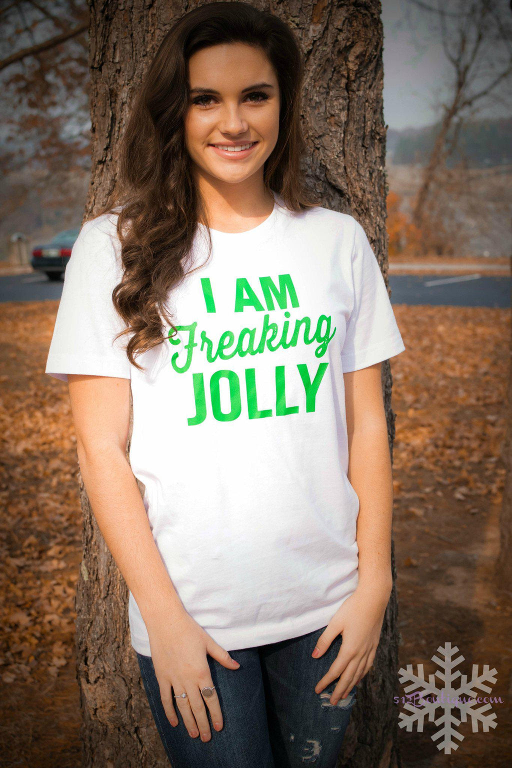 Freaking Jolly -White - 512 Boutique