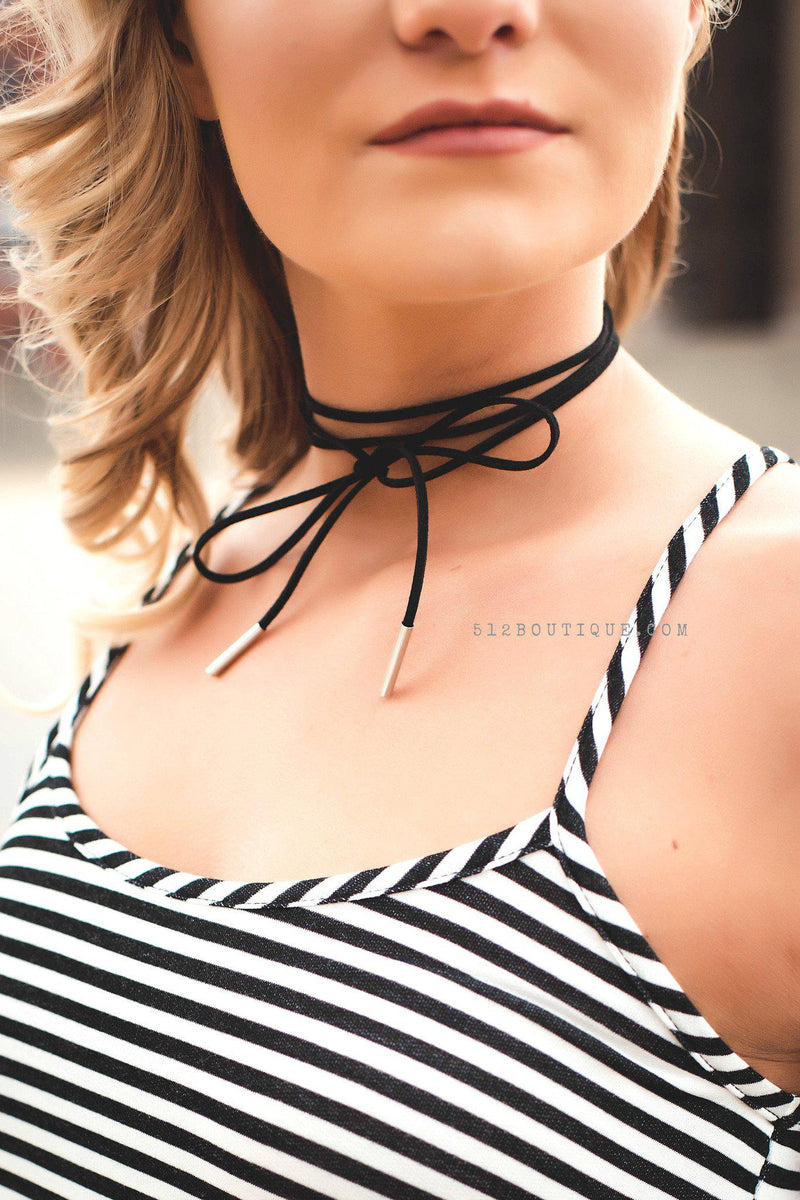 All Tied Up Choker - 512 Boutique