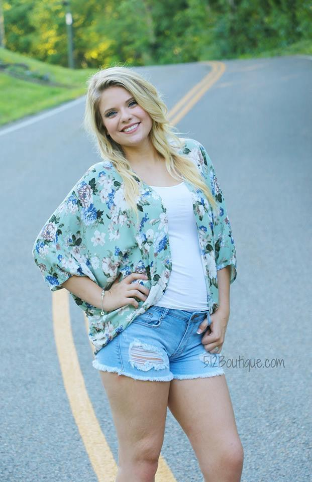 Gray's Floral and Stripes Top