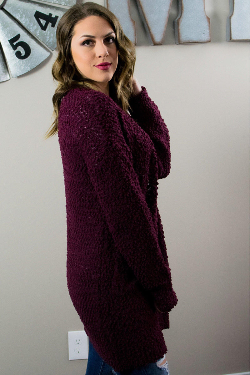 Treat Yourself Cardigan - Burgundy - 512 Boutique