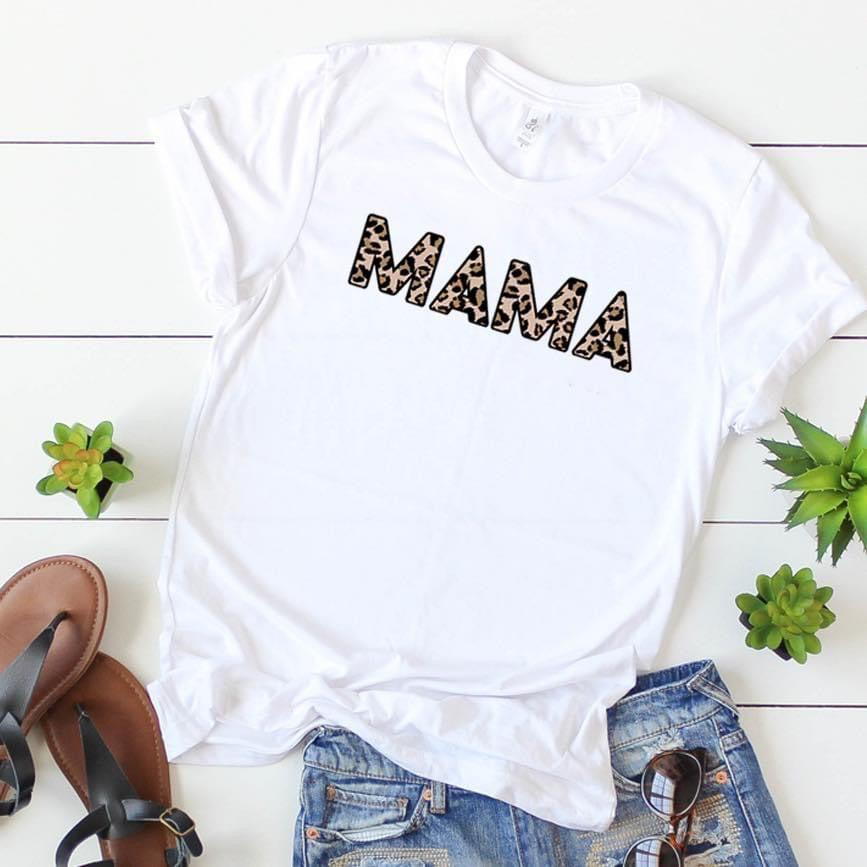 Mama Leopard Tee - 512 Boutique