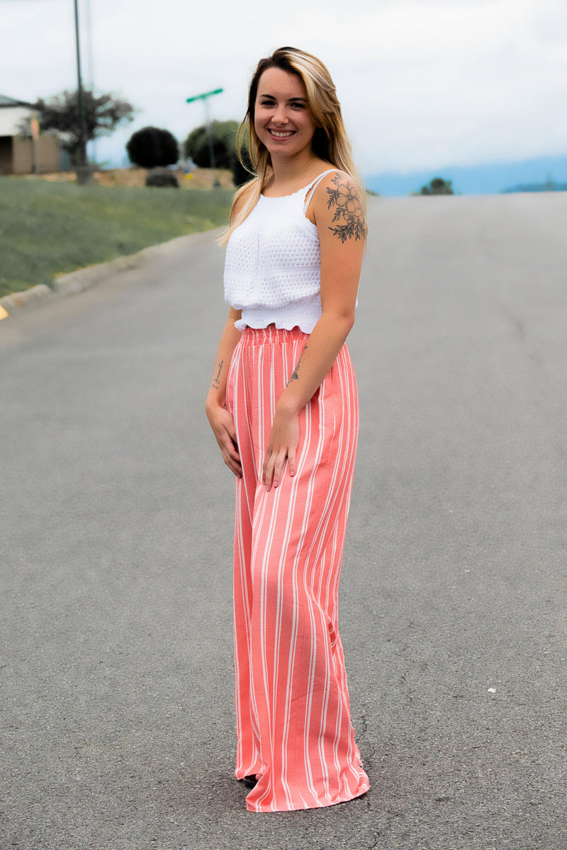 Tropic Breeze Pants - Coral - 512 Boutique