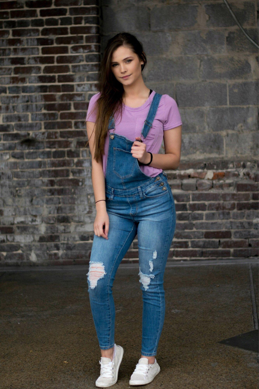Payge Distressed Overalls