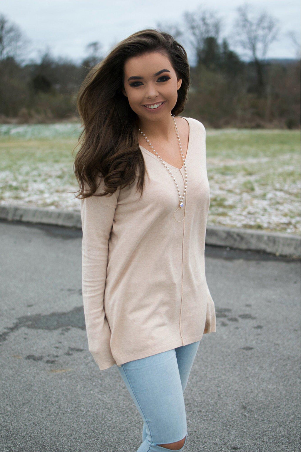 Sweet Wishes Sweater- Taupe