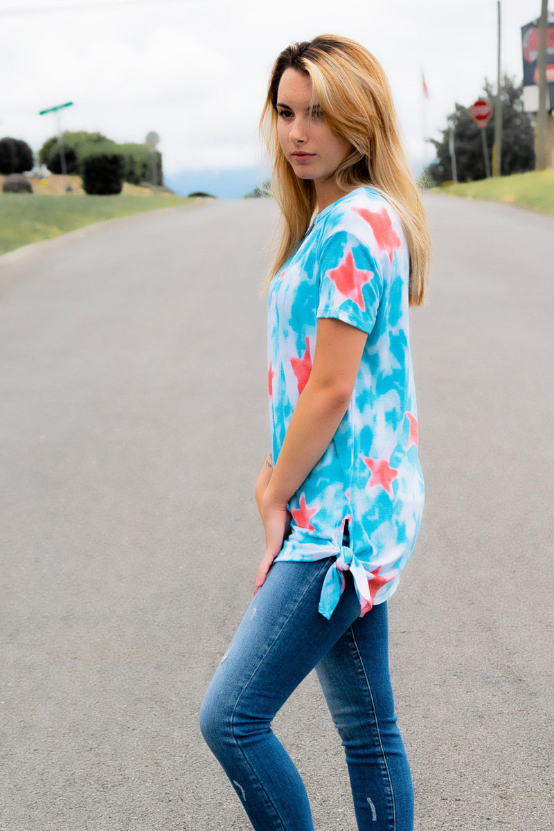 Star tie dye top - 512 Boutique