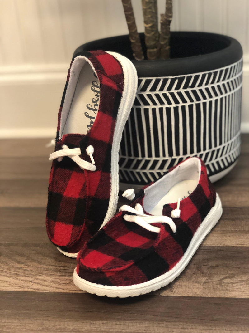 Gypsy Jazz Heather- Red Plaid - 512 Boutique