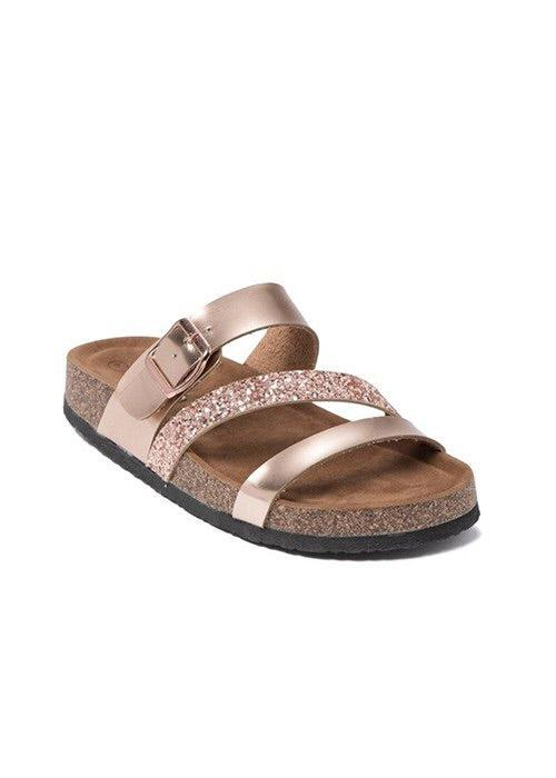 Angie Sandal - Rose Gold - 512 Boutique