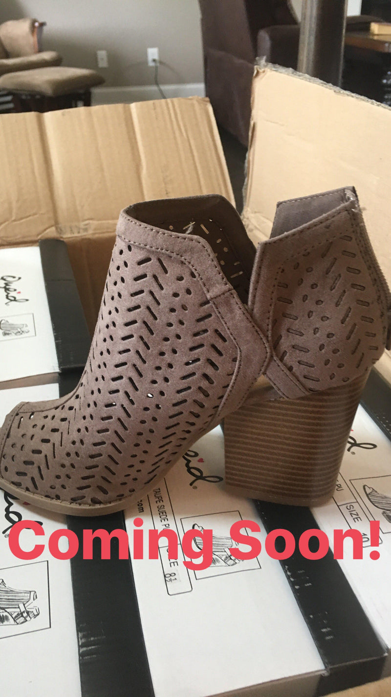 The Blair Bootie - Taupe - 512 Boutique