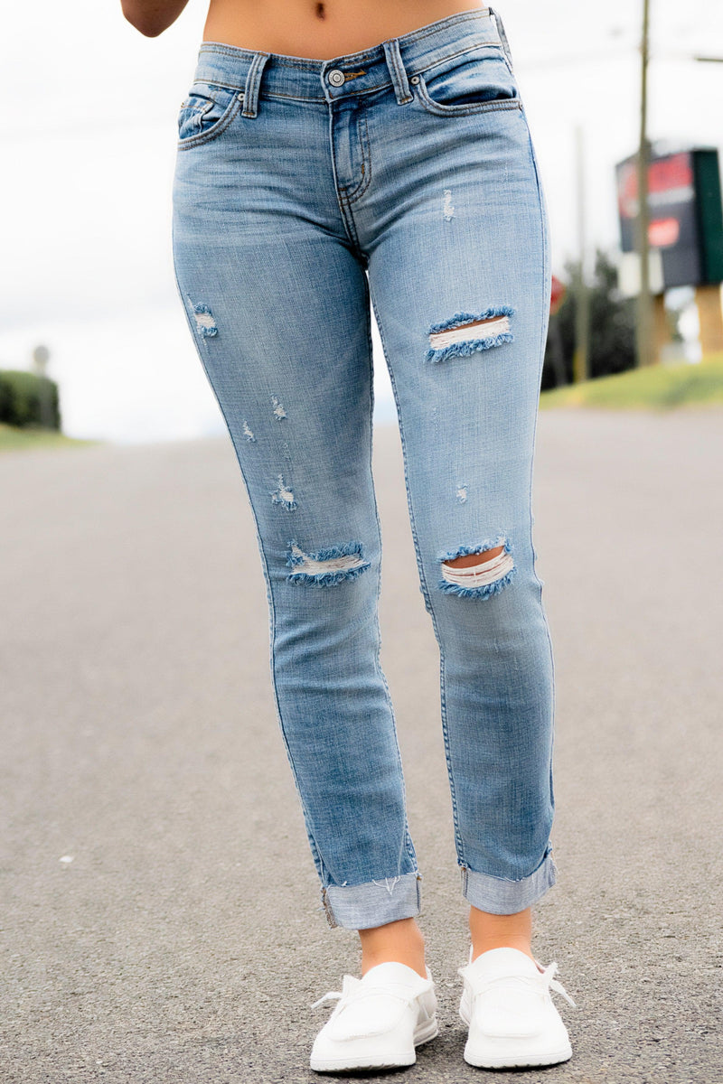 Sasha Mid Rise Skinny Jeans - 512 Boutique