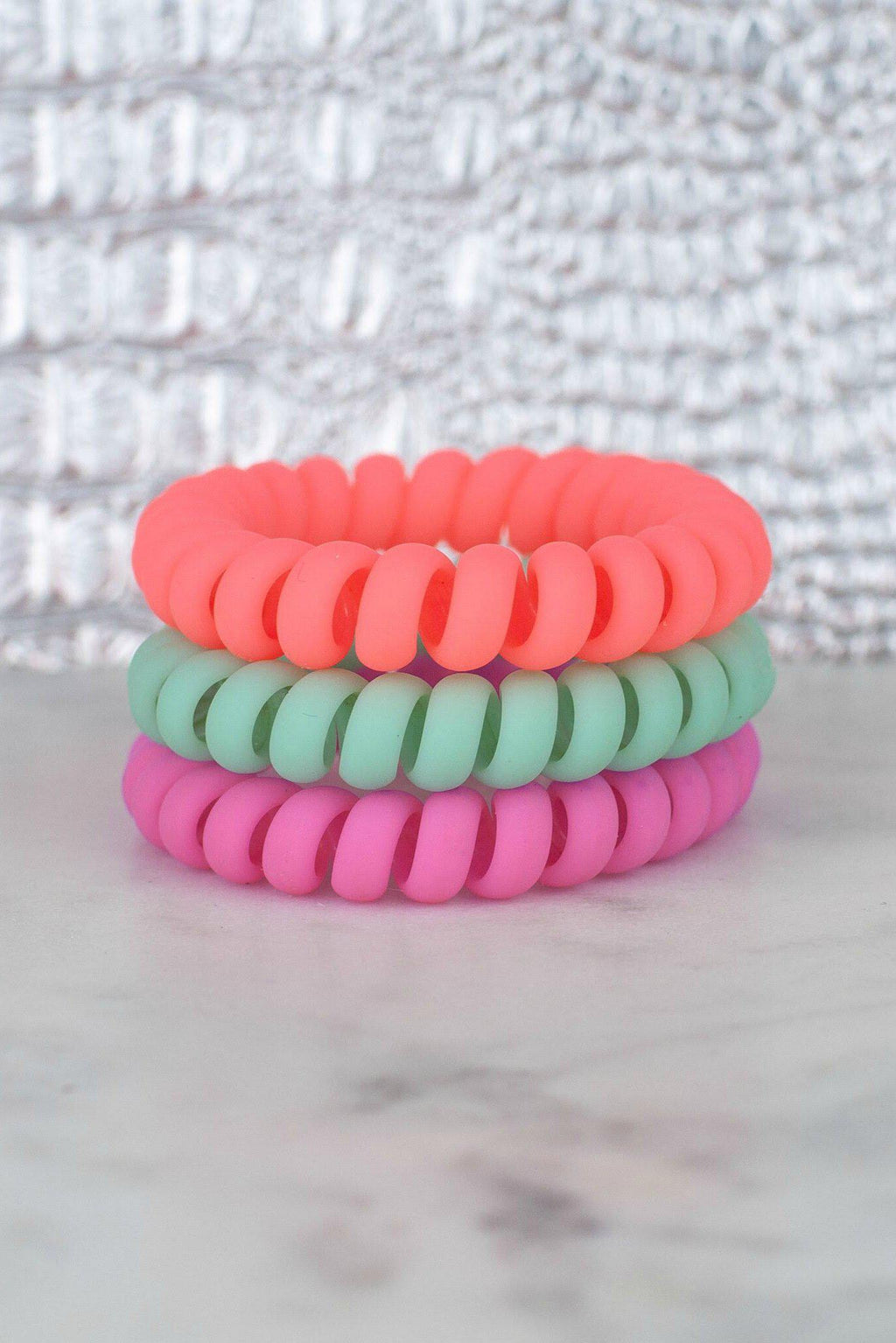 Hotline Hairties- Tropical Matte Set - 512 Boutique