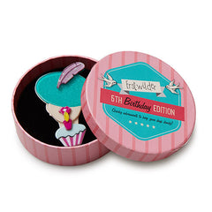 Erstwilder 5th Birthday Chic Lady Brooch Pin Box