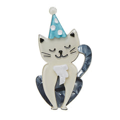 Erstwilder 5th Birthday Party Animal Cat Brooch Pin Front