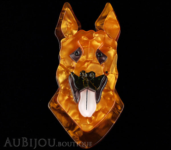 Erstwilder Alsatian Dog Brooch Pin Abbey Amber Gallery