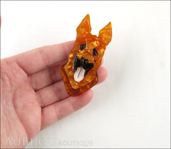 Erstwilder Alsatian Dog Brooch Pin Abbey Amber Model