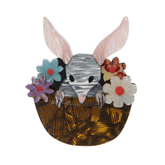Erstwilder Basket of Bilby Brooch Pin Front