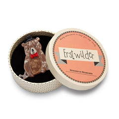 Erstwilder Bear With Me Brooch Pin Box
