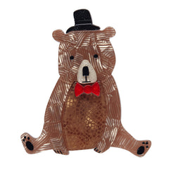Erstwilder Bear With Me Brooch Pin Front