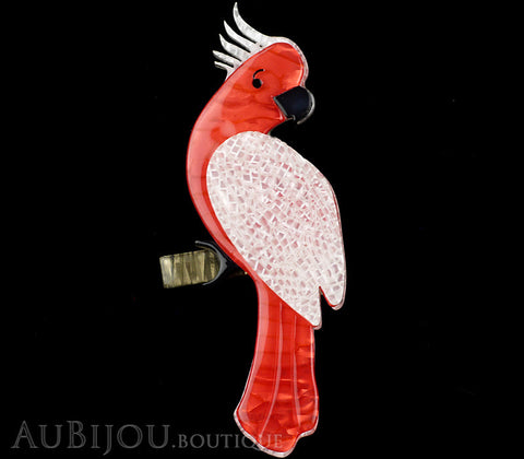 Erstwilder Bird Brooch Pin Carnaboo the Cockatoo Pink White Gallery