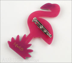 Erstwilder Bird Brooch Pin Flamboyant Flamingo Funk Fuchsia Gold Back