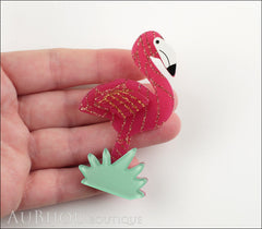 Erstwilder Bird Brooch Pin Flamboyant Flamingo Funk Fuchsia Gold Model
