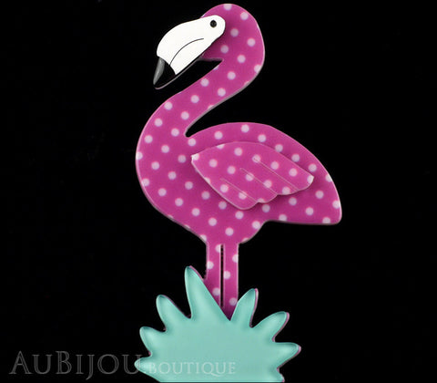 Erstwilder Bird Brooch Pin Flamboyant Flamingo Funk Purple Polka Dot Gallery