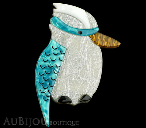 Erstwilder Bird Brooch Pin Kallista the Kookaburra Blue Silver Gallery